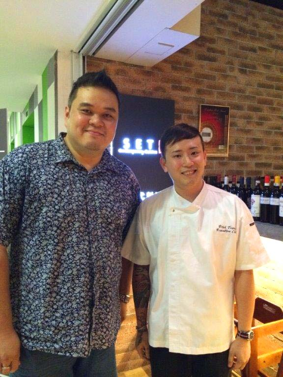 Chef Erick Chun and me.