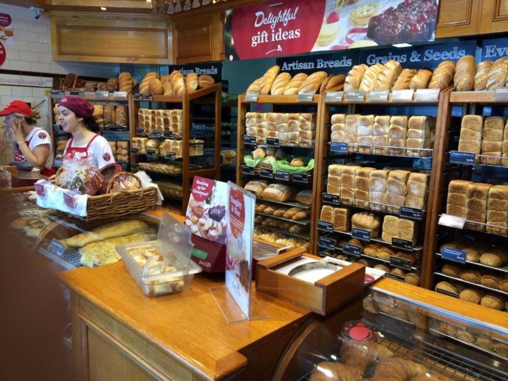 Check out the amount of breads on display