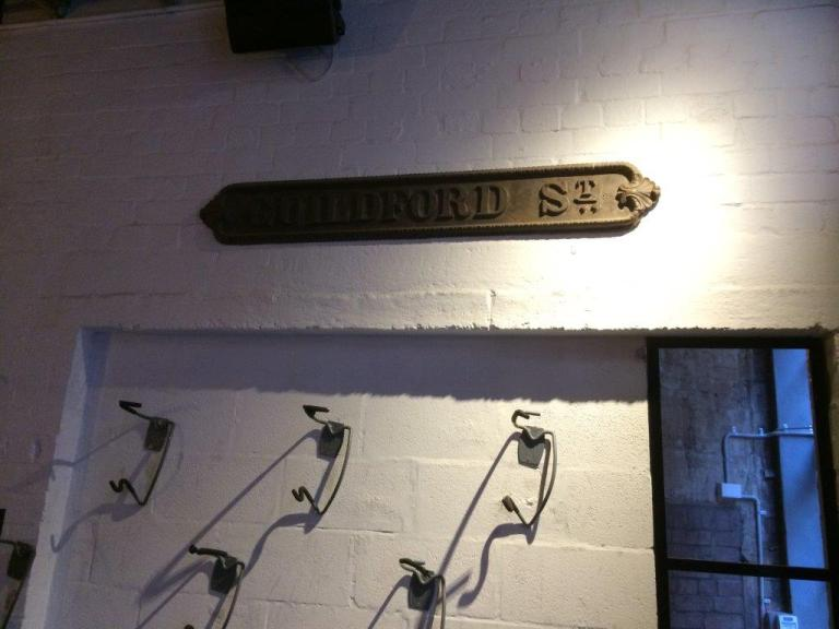 The original Guildford Street sign?