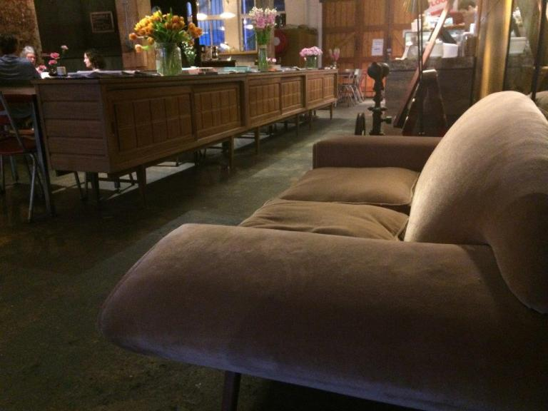This sofa and the table cabinets are original Krimper furniture!