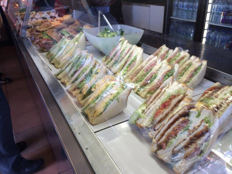 Check out the sandwiches