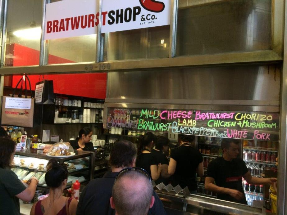 My fav bratwurst shop!