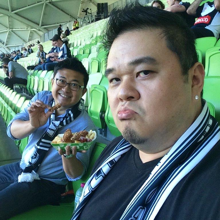 Guess who's the Melbourne Victory FC fan?