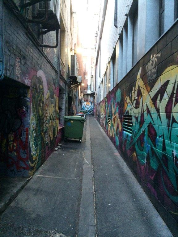 Found this back alley with loads of very good wall art!