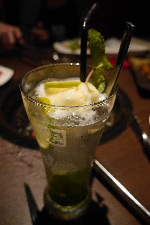 If you're in the mood for some alcohol, try this Yuzu Mojito... Really good and refreshing!