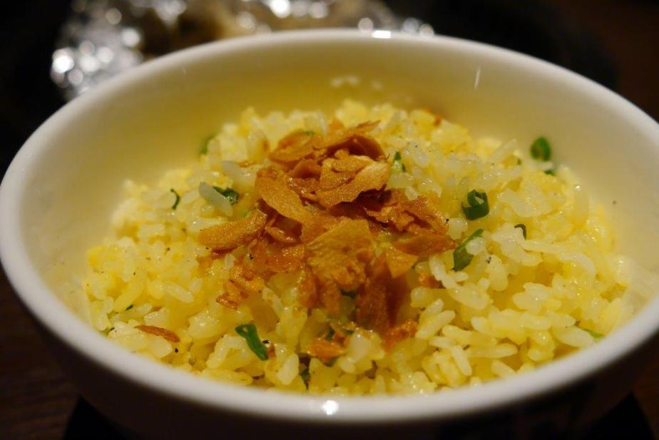 Garlic Fried Rice ($4) Special request from us as we know Japanese fried rice has always been good and wanted to try their too. Really good, tossed in golden egg and topped with crunchy garlic slices.