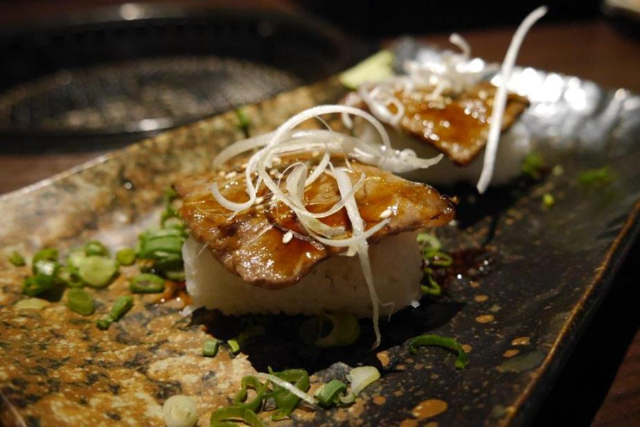 Aburi! Wagyu Sushi ($8 for 2pcs) - Same wagyu cooked to perfection over sushi rice.
