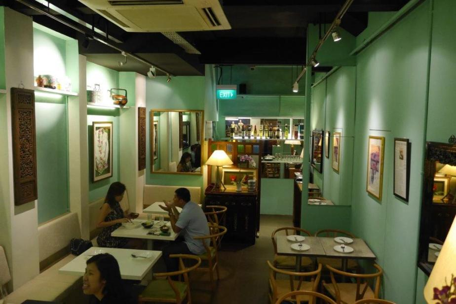 Petit it may be, but very cozy, painted in Peranakan green.