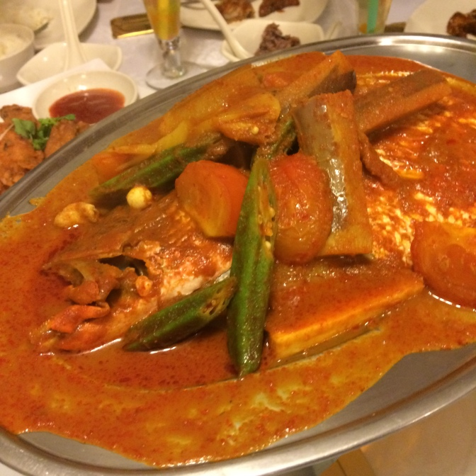Assam Fish Head - $28. Freshness from the fish head was tasted. Very well balance of flavours!