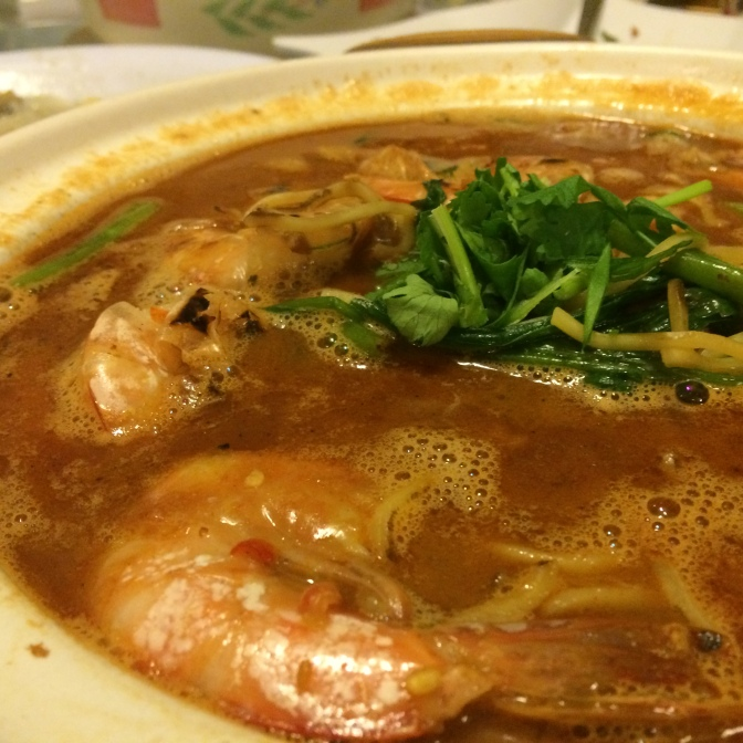 XO Sauce Prawn Noodles ($36). Probably one of the best prawn noodle soups I've tasted! Rich broth served with fresh prawns. Yummy to the max.