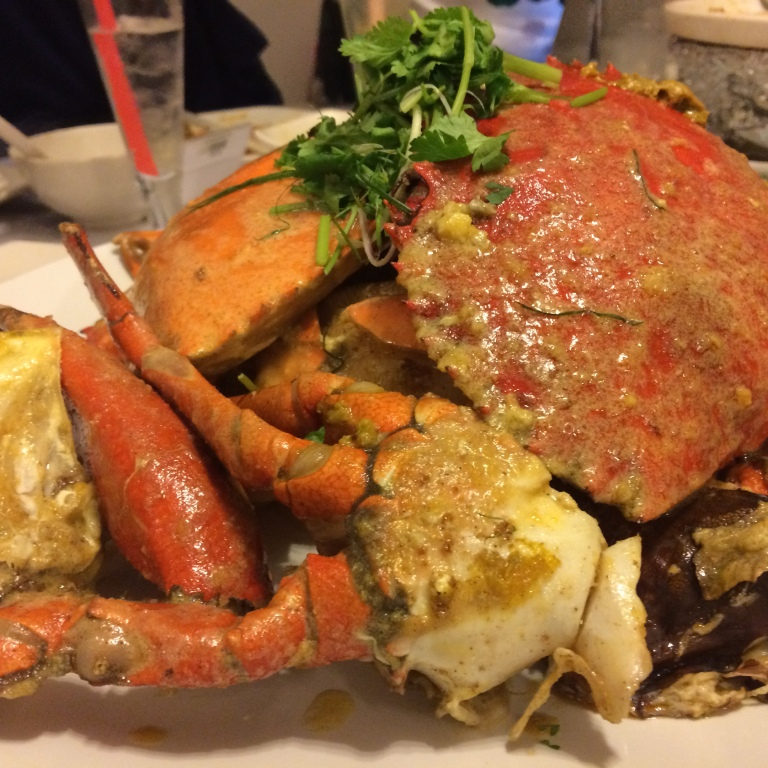 Salted Egg Yolk Crab (Seasonal Price) - Crabs are fresh and juicy. Taste is really good on the sauce.
