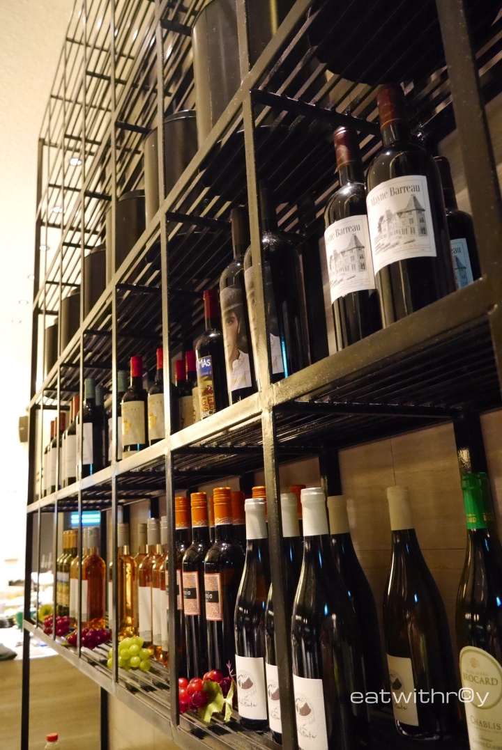 A good selection of wine, not a wide range but sufficient.