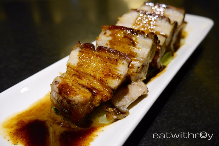 Asian Slow Cook Pork Belly ($26.90). One of my favourites for the night. Crackling skin and melting meat. Definitely a must-order!