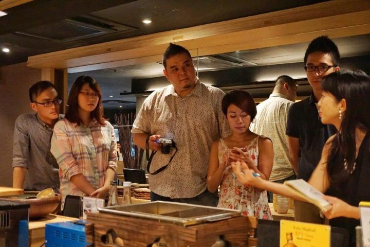 PR manager explaining to us on how Oden is made and the contents.