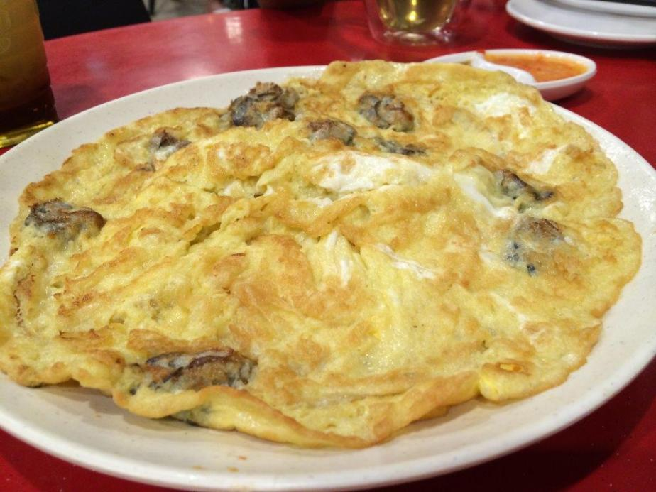 Oyster Omelette ($10.00) - Yummy with loads of medium sized oysters.