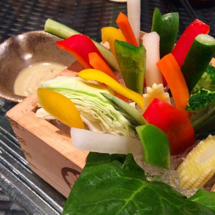 First up, Bagna Cauda. Veg sticks with a very interesting anchovies dip. Quite yummy and refreshing!
