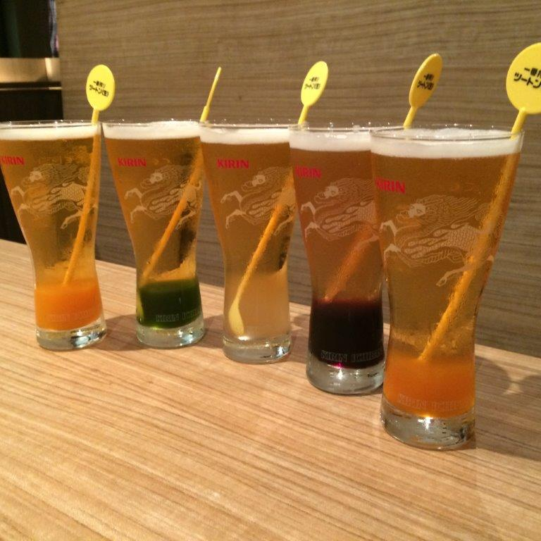 Oh they have flavoured beers too! Apparently the Matcha one was more popular with everyone!