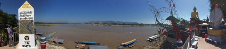 Pano shot of the Golden Triangle. As you can see, the water is very choppy and that's about it.