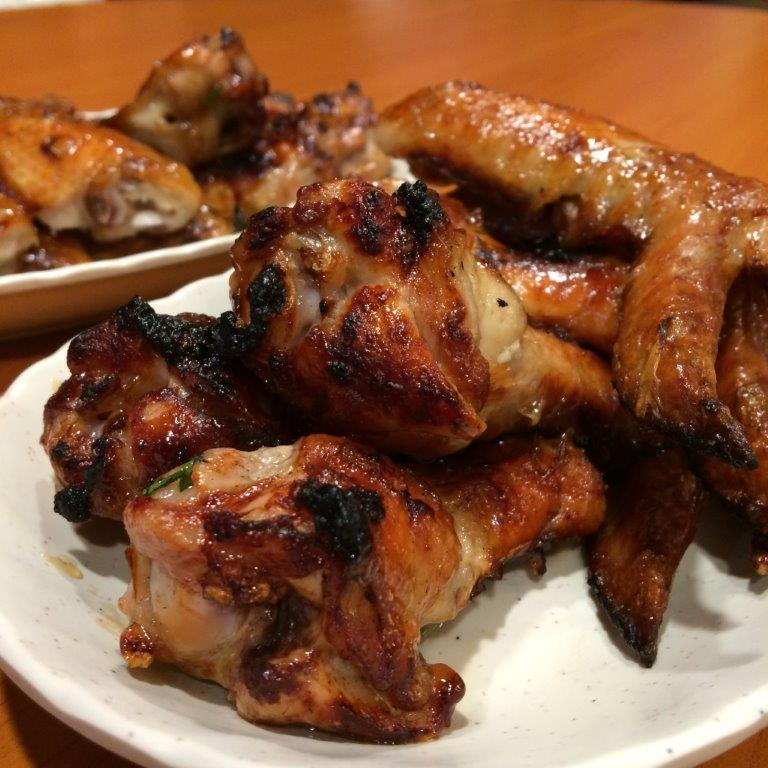 BBQ Chicken Wings - 4pcs $6, 6pcs $9. Reasonably price and taste really good.