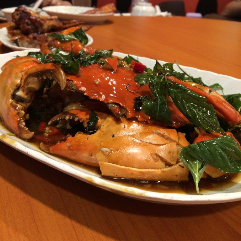 Basil Black Pepper Crab (Seasonal Price) - Crabs were meaty ad fresh. Interesting method of cooking.