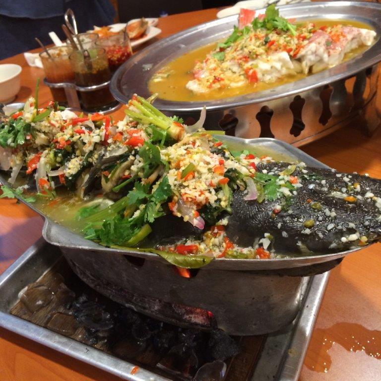 Thai Walking Cat Fish in Spicy Lemon Soup ($28.00) - This is a dish full of collagen, so all ladies please note! Don't care about the walking part which sounds spooky but the spicy lemon soup is just awesome!