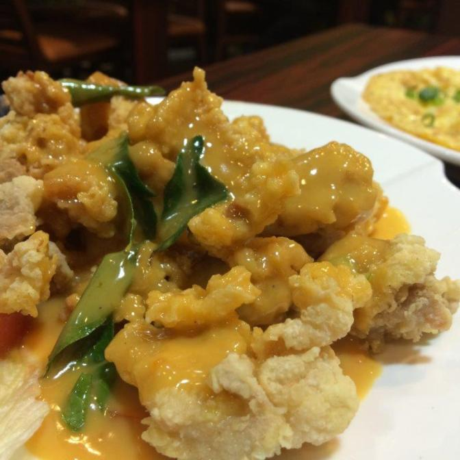 Wanted to try this only. Salted Egg Yolk Chicken.