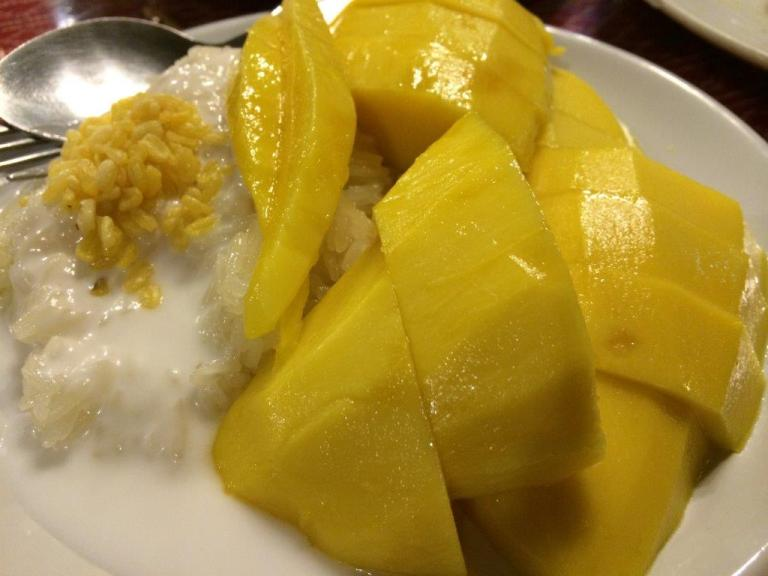Favourite mango glutinous rice. Mango was sourish sweet though.