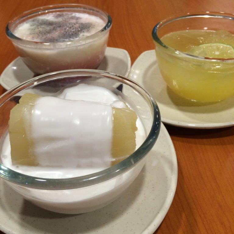 Desserts for us to share. Love the steamed tapioca!