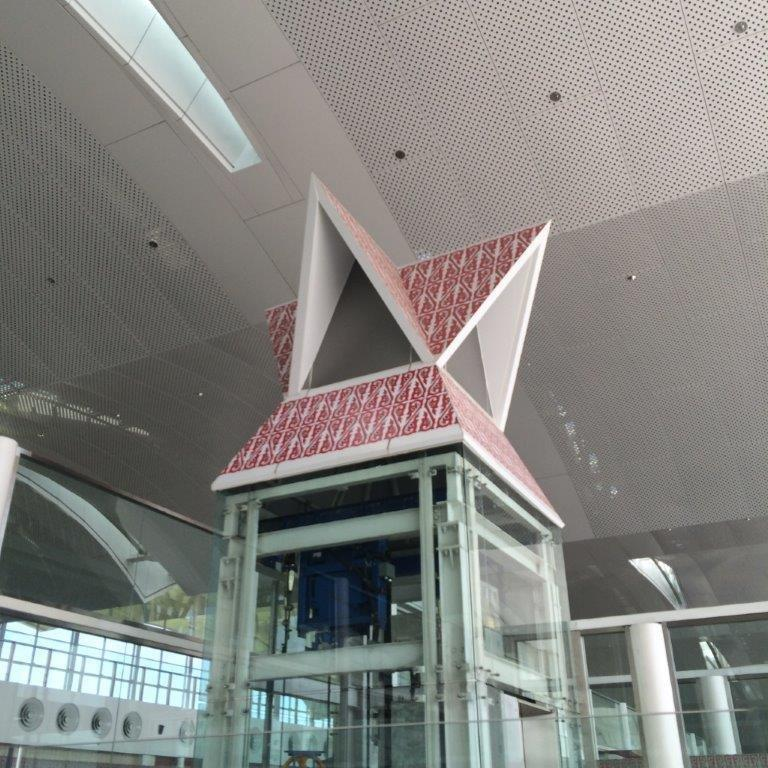Decor around the airport.