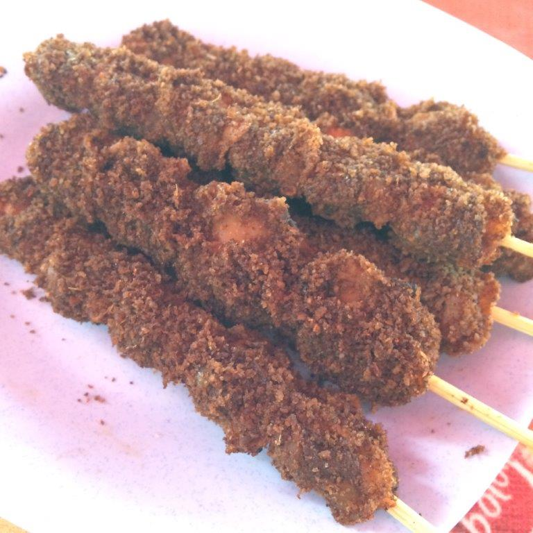 Ok maybe not this street food on a hot day.... This is cockles sate... gulp! LS galore on first meal? SKIP!!!