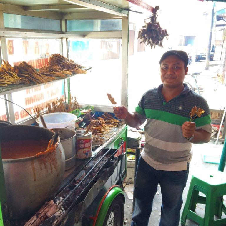 The stall owner for sate