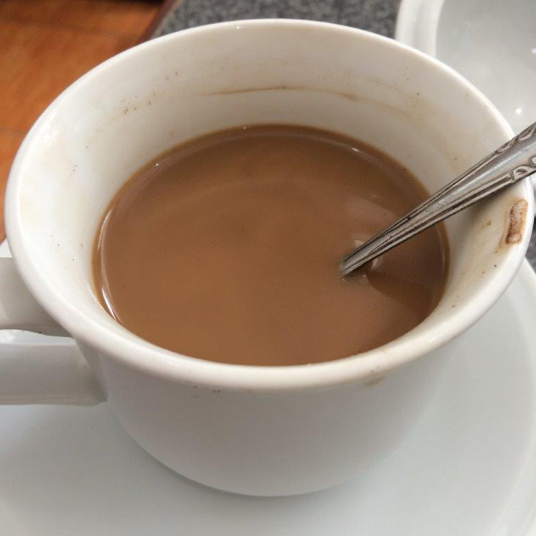 Coffee here is not bad. Aunty made this specially for me.