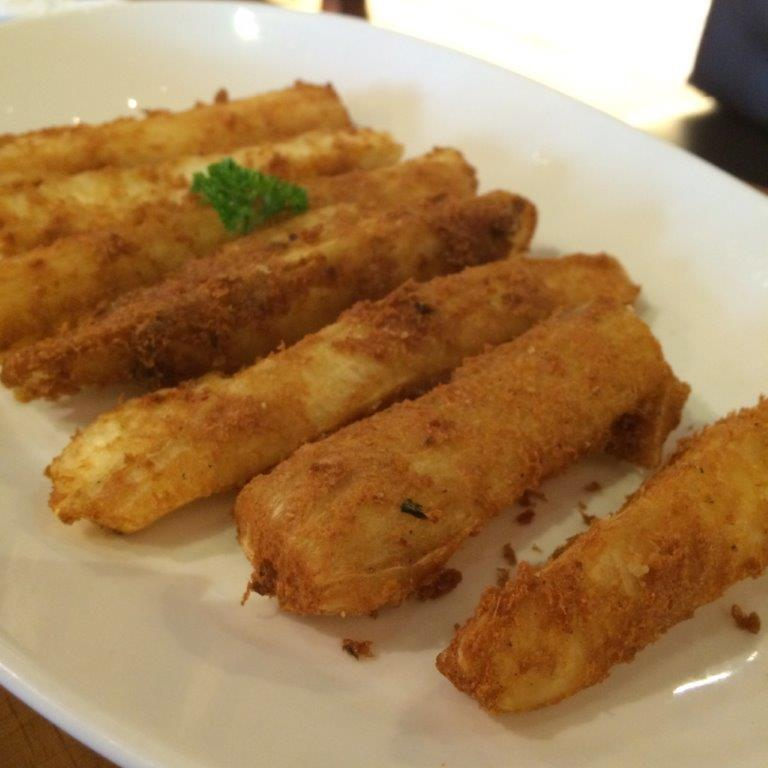 Deep fried cassava sticks. Quite yummy.