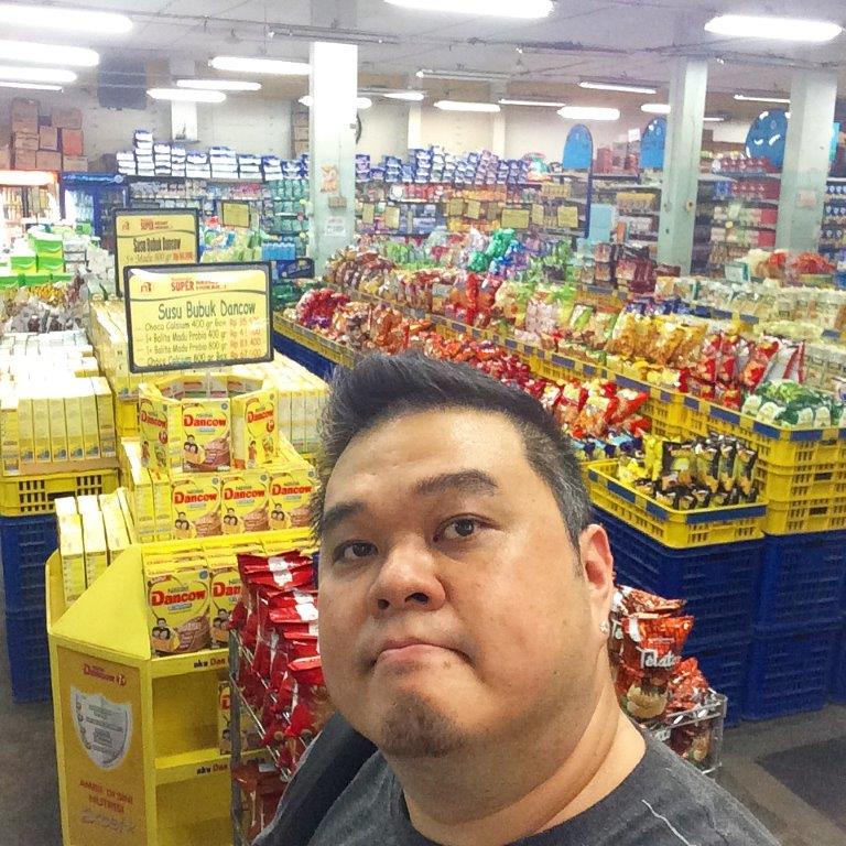 At the supermarket to buy some stuffs