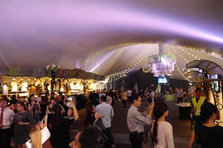 Holding area inside the Big Top. No aircon... maybe not turned on for previews? Very stuffy,