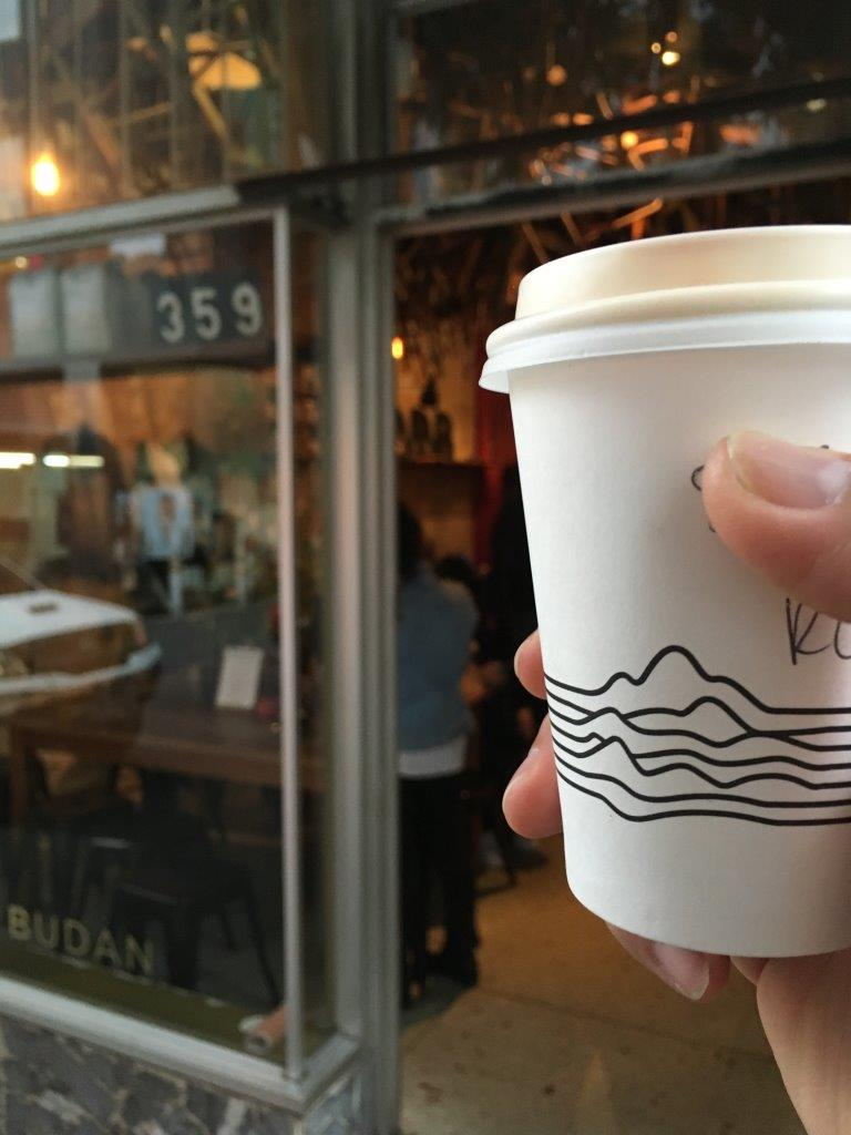 Seven Seeds paper cup.