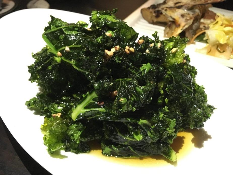 Kale Agebidashi ($11). Deep fried, not too bad.