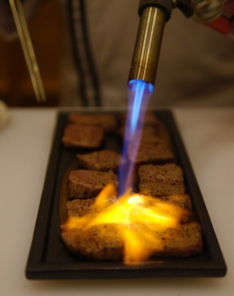 Firing up the Joshu wagyu!!!
