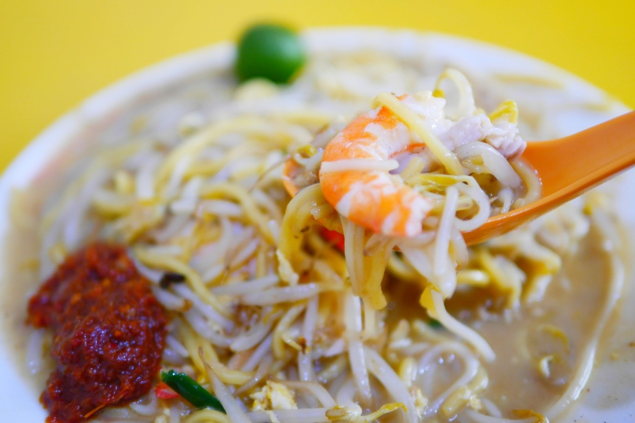 Heng Huat Fried Prawn Mee × Prawn Mee Soup – Sin Ming, Singapore